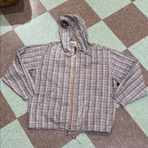 Vtg 90 plaid lightweight jacket sm